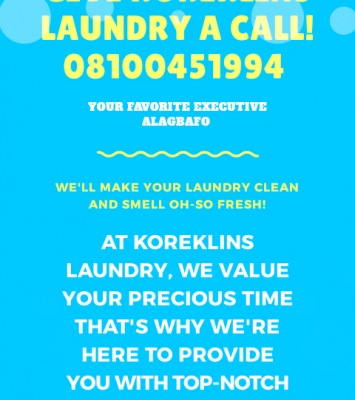 Laundry and cleaning services 1