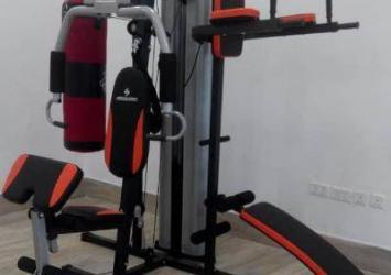 3 station multi gym with punching bag 46