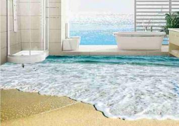 3D Beach View Epoxy Flooring 12