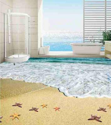 3D Beach View Epoxy Flooring 9