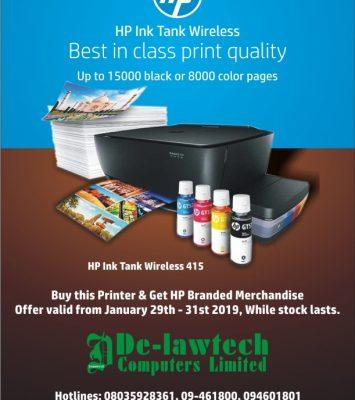 HP Ink Tank Wireless Printer 1