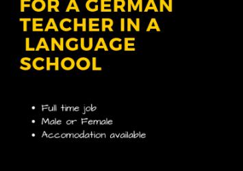 GERMAN TEACHER IS NEEDED 4