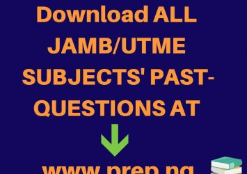 Free JAMB Past Questions 1