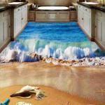 3D Beach Epoxy Flooring 3