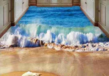 3D Beach Epoxy Flooring 8