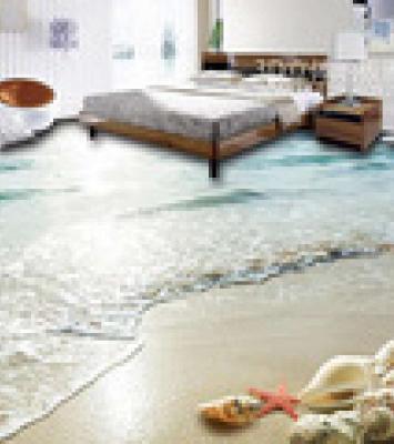 3D Bedroom Seaworld Floor Tile 7