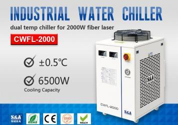 Refrigeration Compressor Water Chiller for 2KW Fiber Laser Metal Cutting Machine 15