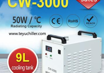 Small Water Chiller CW3000 for CNC Engraving Machine Spindle 18