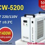 Recirculating Water Chiller CW5200 for 130W co2 laser cutting machine 3