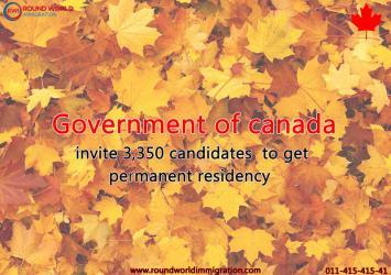 Canadian government invite 3,350 candidates to get permanent residency 20