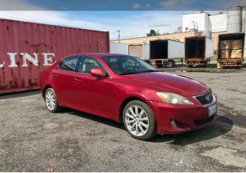 Auction sale for 2007 lexus is 250 - 163, 287 miles 21