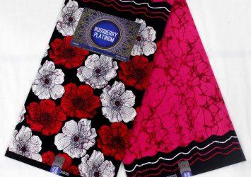 Flowery Ankara Wax Designs - 6 Yards Cotton 12