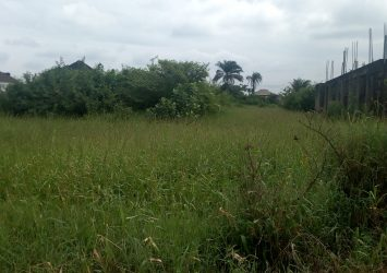 A land measuring 665sqm with a raft foundation on it at isheri north GRA, isheri north residential scheme 17