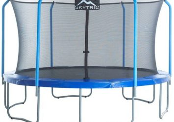 "SKYTRIC 13ft Trampoline With Top Ring Enclosure System Equipped With The ""EASY ASSEMBLE FEATURE"" 4"