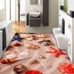 3D Bathroom Floor Murals Designs 1