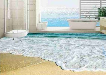 3D Beach View Epoxy Flooring 14