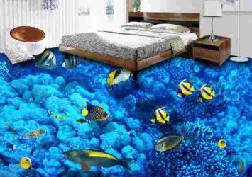 3D Bedroom Epoxy Flooring Design – Deep Sea Themed 8