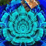 3D Blue Epoxy Flooring 3