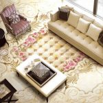 3D Classic Cream Mural Epoxy Flooring 4