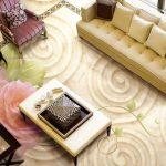 3D Cream Classic Epoxy Flooring 1