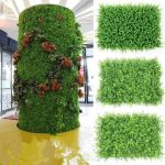Green Artificial Plant Grass Wall – Eucalyptus with Leaf for DIY Wedding Background Decor – Original Ecological Simulation Plant Wall 5