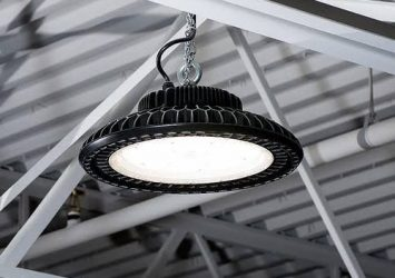 Lighting fixtures; UFO high bay led light. 1