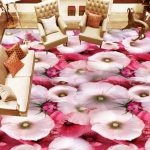 3D Colourful Rose Flooring 2