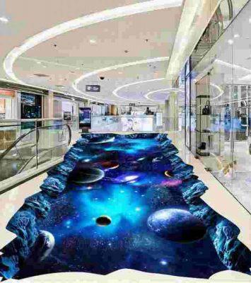 3d Galaxy Epoxy Floor for Show Room 8