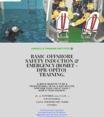 BASIC OFFSHORE SAFETY INDUCTION & EMERGENCY TRAINING (BOSIET) 19