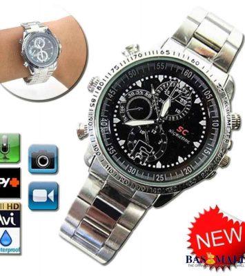 32gb Spy Video Camera Chain Wrist Watch - Silver 4