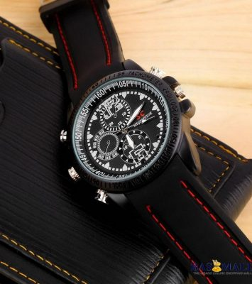32gb Spy Video Camera Rubber Wrist Watch - Black 3