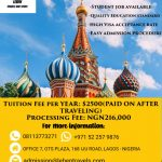 Study in russia - Pay fees when applicant arrives in Russia 3