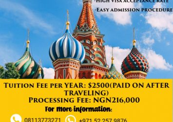 Study in russia - Pay fees when applicant arrives in Russia 8