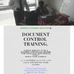 DOCUMENT CONTROL TRAINING (DOC) 1