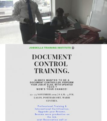 DOCUMENT CONTROL TRAINING (DOC) 11