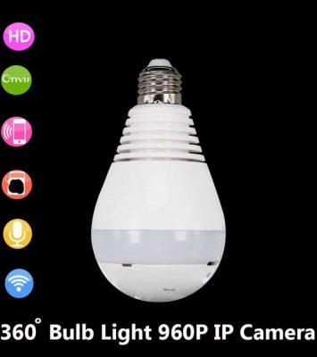 JIVISION Lamp Camera Bulb Light Wireless HD IP Camera Wifi Home 9
