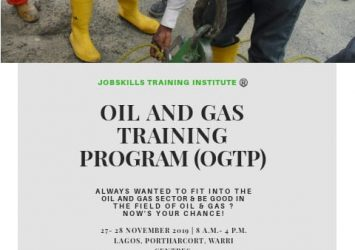 OIL AND GAS TRAINING PROGRAM (OGTP) 16
