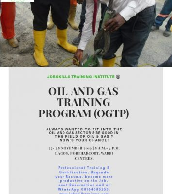 OIL AND GAS TRAINING PROGRAM (OGTP) 4