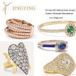 925 sterling silver rings fine jewelry custom OEM factory 5