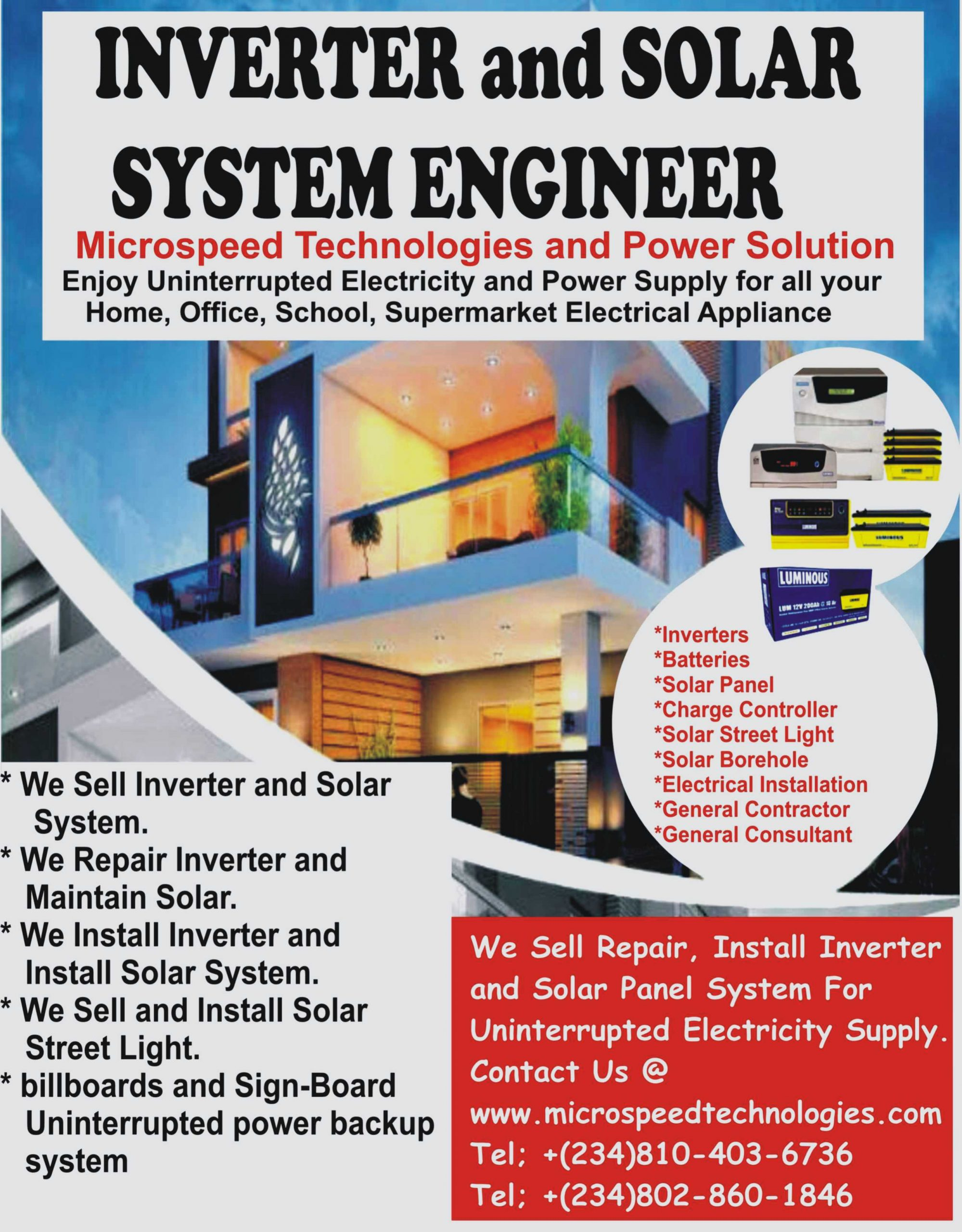 Inverter Installation Engineer - Home Wiring Diagram