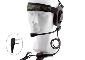 Tactical Bowman Elite II Radio Headset Earpiece With U94 Style PTT For Kenwood 25