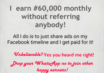 Make #60,000 monthly just sharing ads on your Facebook 4