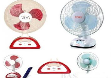 "14"" 2tm / 12"" Qasa Rechargeable Table Fan 19"
