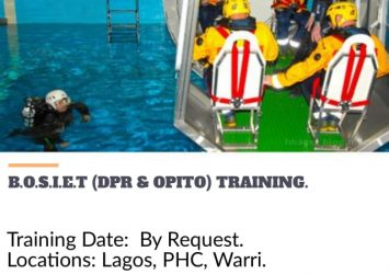 BASIC OFFSHORE SAFETY INDUCTION & EMERGENCY TRAINING 13