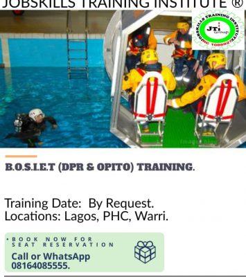 BASIC OFFSHORE SAFETY INDUCTION & EMERGENCY TRAINING 17