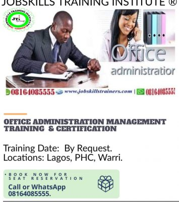 OFFICE ADMINISTRATION AND MANAGEMENT TRAINING 11