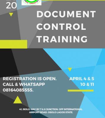 DOCUMENT CONTROL TRAINING (DOC) 2